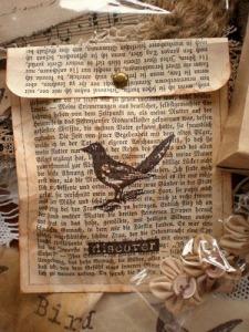 Bird newspaper bag