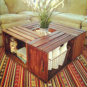 Old crate table