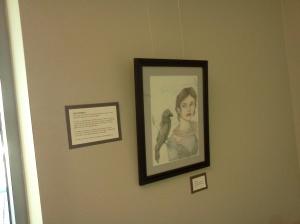 Erin Wehrli at CPR art show
